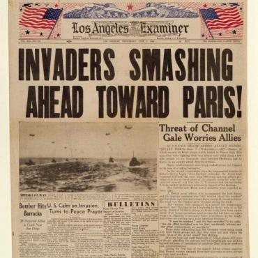 LA Examiner Covers D-Day