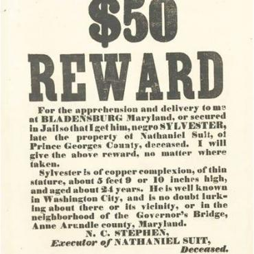 Executor Nicholas Carroll Stephen owned 33 slaves in 1860. He sought payment for them after the Civil War ended slavery.
