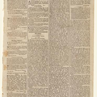 "The article, taken from the Connecticut Courant, starts in the second column under the heading ""Miscellany"" in this New Hampshire paper."