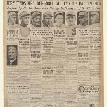 The North American reports on the Black Sox Scandal, in which gamblers paid several White Sox players to lose the 1919 World Series.