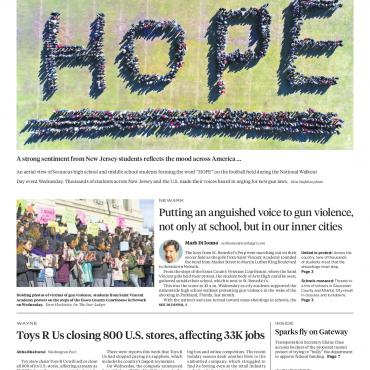 Student Walkout front page