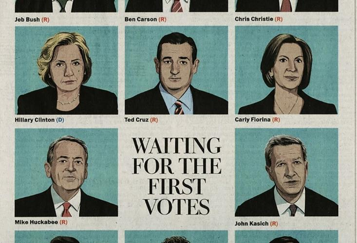 Washington Post illustration of 2016 candidates