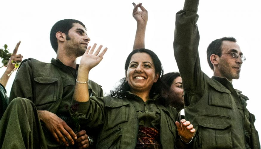 Members of the Kurdistan Workers Party.