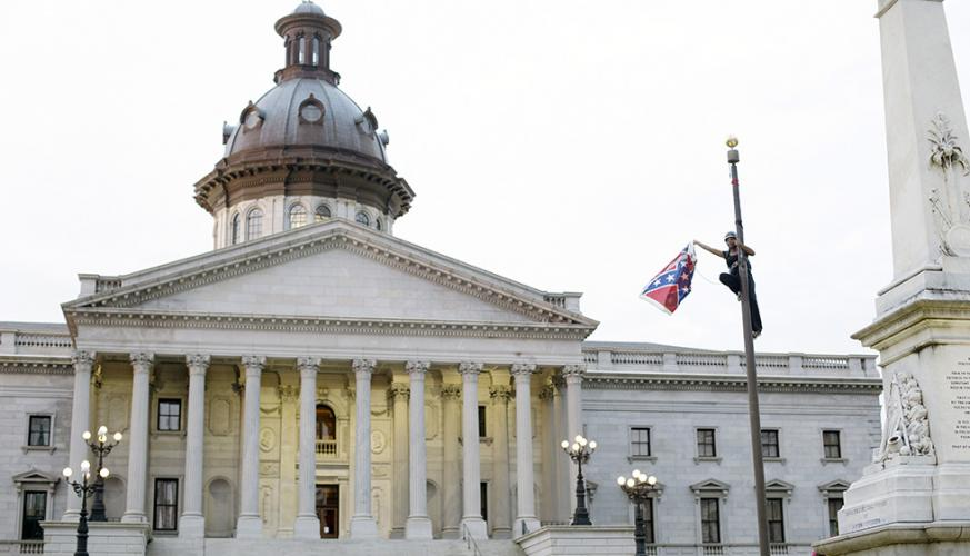 Brittany 'Bree' Newsome Removes Confederate Flag on S.C. Capitol Grounds