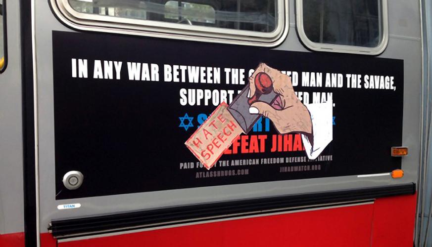 Defaced Anti-Muslim Ad on San Francisco Bus Teaser